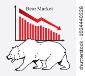 bear market symbols of stock...   Shutterstock .eps vector #1024440328