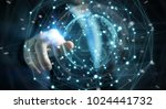 businessman on blurred... | Shutterstock . vector #1024441732