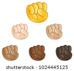 raised fist pump hand emoji set ...