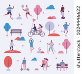 vector illustration in flat... | Shutterstock .eps vector #1024446622