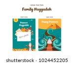 passover haggadah design...   Shutterstock .eps vector #1024452205