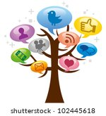 modern social media abstract... | Shutterstock .eps vector #102445618