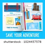 stylish trip banner concept... | Shutterstock .eps vector #1024457578