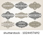 set of vintage frame with... | Shutterstock .eps vector #1024457692