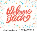 welcome back banner.  | Shutterstock .eps vector #1024457815