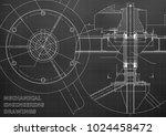 mechanical engineering drawing. ... | Shutterstock .eps vector #1024458472