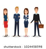 business people group avatars... | Shutterstock .eps vector #1024458598