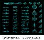 vector set of vintage arrows ...   Shutterstock .eps vector #1024462216