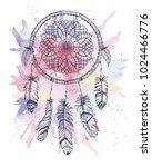 vector dream catcher. native... | Shutterstock .eps vector #1024466776