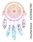 vector dream catcher. native... | Shutterstock .eps vector #1024466782