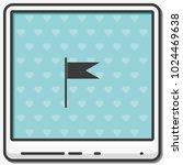 flag flat vector icon. location ...