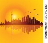 shanghai skyline | Shutterstock .eps vector #102447182
