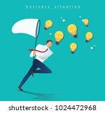 businessman holding a butterfly ...   Shutterstock .eps vector #1024472968
