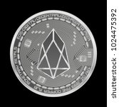 crypto currency silver coin... | Shutterstock .eps vector #1024475392