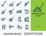 garden tools icons set. set of...