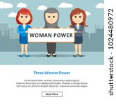three woman power job... | Shutterstock .eps vector #1024480972