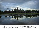 panoramic view of angkor wat on ... | Shutterstock . vector #1024485985
