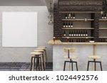 modern loft bar or pub interior ...   Shutterstock . vector #1024492576