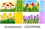 set of nature backgrounds with... | Shutterstock .eps vector #102449486