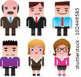 business man and lady | Shutterstock .eps vector #102449585