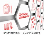 document management concept... | Shutterstock . vector #1024496095