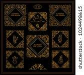 premium collection of golden... | Shutterstock .eps vector #1024498615