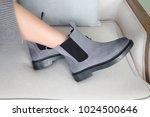 beautiful female legs in spring ... | Shutterstock . vector #1024500646
