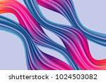 wave liquid. trendy background... | Shutterstock .eps vector #1024503082