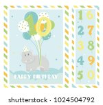 birthday party invitation card  ... | Shutterstock .eps vector #1024504792