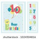 birthday party invitation card  ... | Shutterstock .eps vector #1024504816