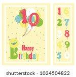 birthday party invitation card  ... | Shutterstock .eps vector #1024504822