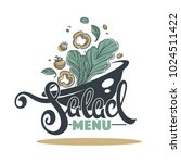 salad bar menu  logo  emblem... | Shutterstock .eps vector #1024511422