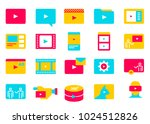 set of simple video content... | Shutterstock .eps vector #1024512826