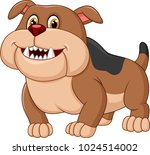 cartoon bulldog isolated on... | Shutterstock .eps vector #1024514002