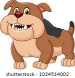 Cartoon Bulldog Isolated On...