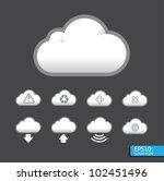 vector cloud icon | Shutterstock .eps vector #102451496