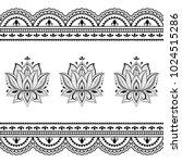henna tattoo flower template... | Shutterstock .eps vector #1024515286