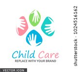 child care concept logo icon | Shutterstock .eps vector #1024516162