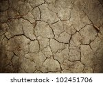 Background Old Earth. Cracked Texture. - stock photo