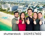 study trip for young adults in... | Shutterstock . vector #1024517602