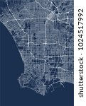 vector map of the city of los... | Shutterstock .eps vector #1024517992