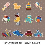baby toy stickers | Shutterstock .eps vector #102452195