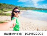 follow me pov   couple in love... | Shutterstock . vector #1024522006