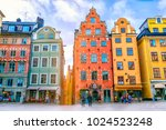 stortorget square in old town ... | Shutterstock . vector #1024523248
