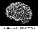 human brain made of neuronal...   Shutterstock . vector #1024526275