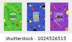 trendy memphis style geometric... | Shutterstock .eps vector #1024526515