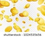 million dollar money rain cash...   Shutterstock .eps vector #1024535656