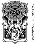 elephant art design poster... | Shutterstock .eps vector #1024541752