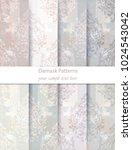 damask patterns set collection... | Shutterstock .eps vector #1024543042