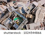 electronic waste  old computers ... | Shutterstock . vector #1024544866